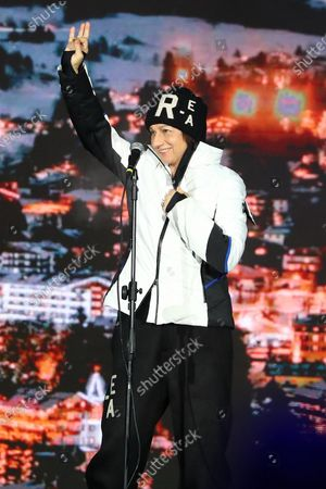 Stock Picture of Italian singer Gianna Nannini performs on stage during the opening ceremony of the FIS Alpine Skiing World Championships in Cortina d'Ampezzo, Italy, 07 February 2021. The 2021 FIS Alpine World Ski Championships will be held in Cortina d'Ampezzo from 7 to 21 February 2021.