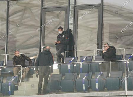 Philip Holzer (Aufsichtsratsvorsitzender Frankfurt), Fredi Bobic (Frankfurt), Axel Hellmann (Vorstand Frankfurt), Peter Fischer (Frankfurt)