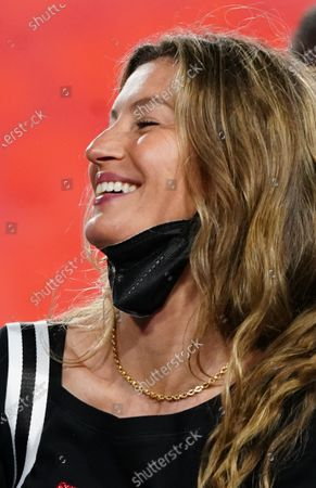Gisele Bundchen, the wife of Tampa Bay Buccaneers quarterback Brady, is seen on the field at Tampa, Florida on Sunday, February 7, 2021. The Buccaneers defeated the Chiefs 31-9 to win Super Bowl 55