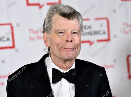 """Literary service award recipient Stephen King attends the 2018 PEN Literary Gala at the American Museum of Natural History in New York. Author King's foundation covered the $6,500 cost of publishing a 290-page manuscript by students in Farwell Elementary School's Author Studies Program. """"Fletcher McKenzie and the Passage to Whole"""" is a story about a Maine boy by Gary Savage. But it was reworked to include students' experiences during the coronavirus"""