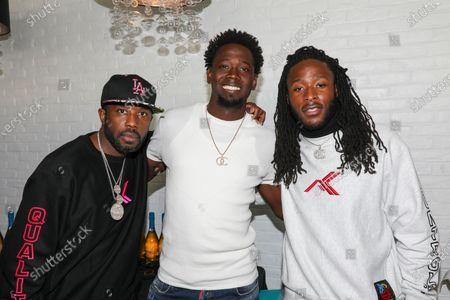 Stock Image of Exclusive - (L-R) Twin, Robert Pauson and Alvin Kamara