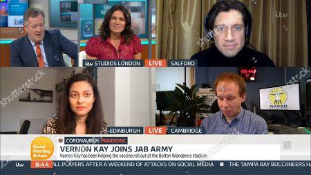 Stock Picture of Piers Morgan, Susanna Reid, Vernon Kay, Prof Devi Sridhar and Dr Chris Smith