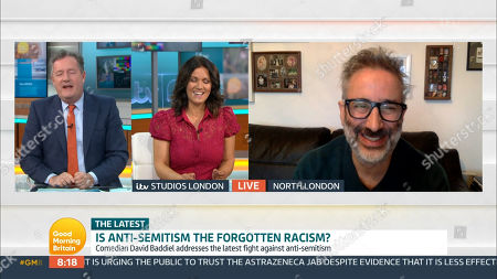 Piers Morgan, Susanna Reid and David Baddiel