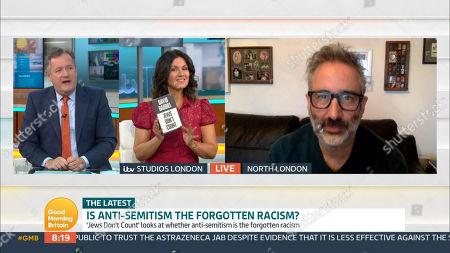 Stock Image of Piers Morgan, Susanna Reid and David Baddiel