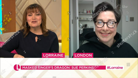 Lorraine Kelly and Sue Perkins