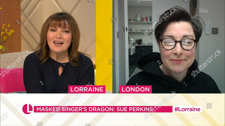 Stock Image of Lorraine Kelly and Sue Perkins