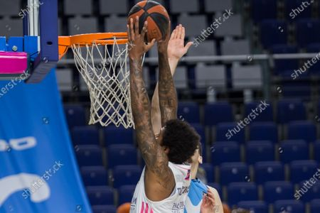 Trey Thompkins during Real Madrid victory over Movistar Estudiantes 65 - 79 in Liga Endesa regular season game (day 23) celebrated in Madrid (Spain) at Wizink Center. February 7th 2021.