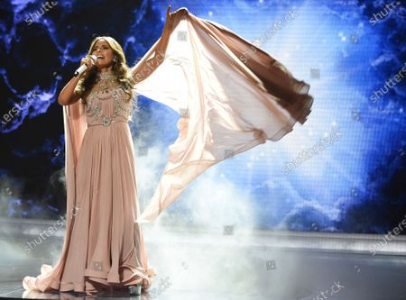 """Gloria Trevi performs """"Ellas Soy Yo"""" at the Latin American Music Awards, in Los Angeles. Trevi turns 54 on Feb. 15"""
