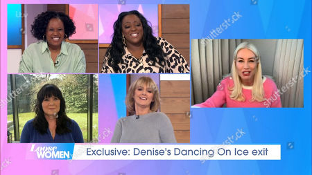 Charlene White, Judi Love, Coleen Nolan, Jane Moore and Denise Van Outen