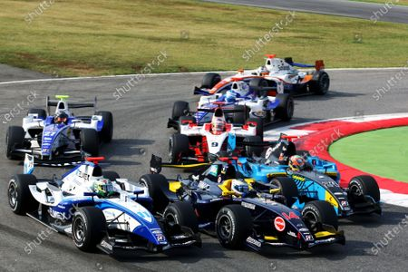 Stock Image of (L to R): Sergio Perez (MEX) Telmex Arden International; Luca Filippi (ITA) Super Nova Racing and Karun Chandhok (IND) Ocean Racing Technology at the start of the race.GP2 Series, Rd 9, Race 2,  Monza, Italy, Sunday 13 September 2009.