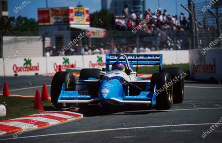 Stock Image of Jacques Villeneuve (CDN) Team Green Reynard 95I.CART PPG IndyCar World Series, Surfers Paradise, Gold Coast, Australia, 19 March 1995.