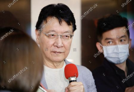 """Stock Photo of Chao Shao Kang declares his intention to run for 2024 presidential election during a press conference in Taipei. Setting out """"Make Taiwan Great Again"""" as his prototypical campaign slogan, Chao says he will spare no efforts to be part in the primary election. - Daniel Tsang / SOPA Images -"""