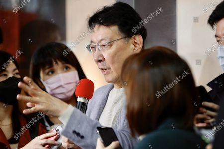 """Stock Picture of Chao Shao Kang declares his intention to run for 2024 presidential election during a press conference in Taipei. Setting out """"Make Taiwan Great Again"""" as his prototypical campaign slogan, Chao says he will spare no efforts to be part in the primary election. - Daniel Tsang / SOPA Images -"""