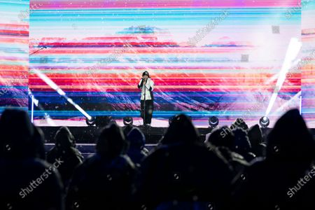 Gianna Nannini performs during the FIS Alpine Ski World Championships Opening Ceremony