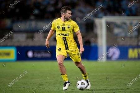 Stock Image of Tim Payne of Wellington Phoenix controls the ball during the Hyundai A-League soccer match between Sydney FC and Wellington Phoenix.