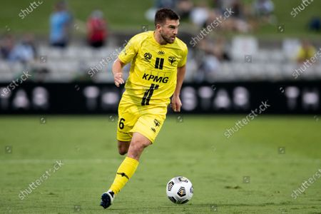 Stock Picture of Tim Payne of Wellington Phoenix attacks during the Hyundai A-League soccer match between Sydney FC and Wellington Phoenix.