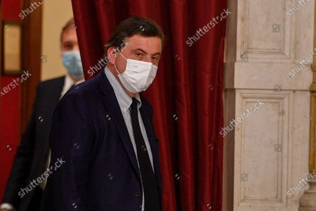 Editorial image of Second round of consultations by Prime Minister Mario Draghi with the parliamentary groups Azione, + Europa Radicali Italiani, Rome, Italy - 08 Feb 2021