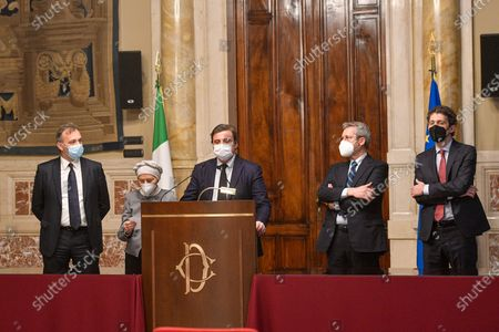 Editorial picture of Second round of consultations by Prime Minister Mario Draghi with the parliamentary groups Azione, + Europa Radicali Italiani, Rome, Italy - 08 Feb 2021