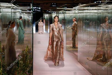 Editorial photo of Fendi show, Runway, Spring Summer 2021, Paris Fashion Week, Place de la Bourse, France - 27 Jan 2021