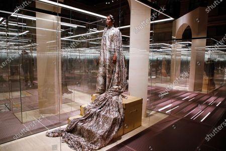 Editorial image of Fendi show, Runway, Spring Summer 2021, Paris Fashion Week, Place de la Bourse, France - 27 Jan 2021