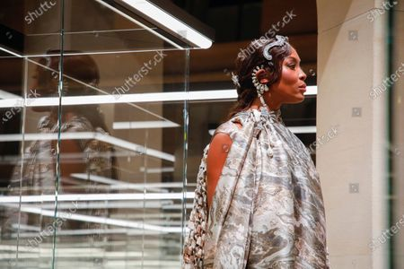 Naomi Campbell on the catwalk at the Fendi Fashion show in Paris, Spring Summer 2021, Haute Couture Fashion Week. Collection designed by Kim Jones
