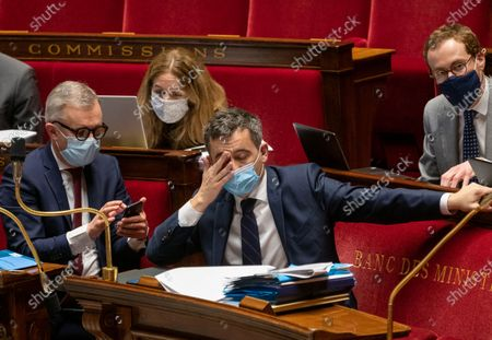Francois de Rugy and French Interior Minister Gerald Darmanin