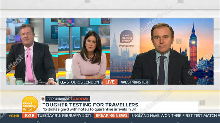 Editorial picture of 'Good Morning Britain' TV Show, London, UK - 09 Feb 2021