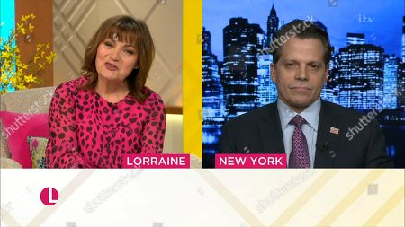 Lorraine Kelly and Anthony Scaramucci