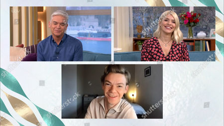 Phillip Schofield, Holly Willoughby and Thomas Sangster