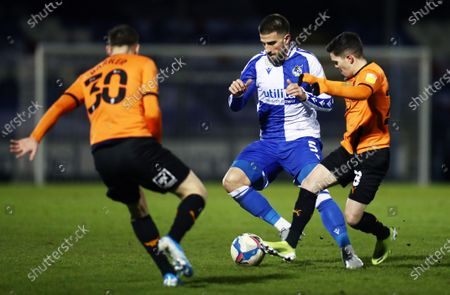 Max Ehmer of Bristol Rovers and Liam Kelly of Oxford United.