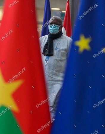 President of Burkina Faso Roch Marc Christian Kabore arrives for a meeting with European Council President Charles Michel (not seen) at the European Council in Brussels, Belgium, 09 February 2021.