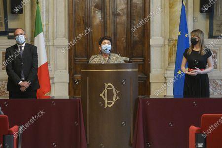 Government crisis Draghi's second round of consultations for the formation of the new government. The delegation of Italia Viva with Davide Faraone Maria Elena Boschi Teresa Bellanova