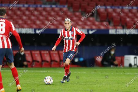 """Lucas Torreira (Atletico) - Football / Soccer : Spanish """"La Liga Santander"""" match between Club Atletico de Madrid 2-2 RC Celta de Vigo at the Estadio Wanda Metropolitano in Madrid, Spain."""