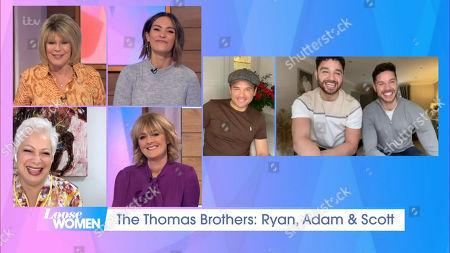 Ruth Langsford, Frankie Bridge, Denise Welch, Jane Moore, Ryan Thomas, Adam Thomas and Scott Thomas