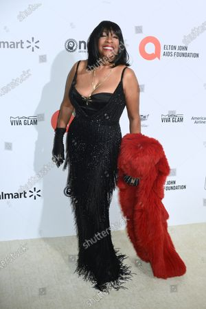 Mary Wilson attends the Sir Elton John AIDS Foundation Oscar Viewing Party