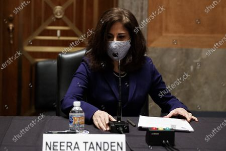 Neera Tanden, director of the Office and Management and Budget (OMB) nominee for U.S. President Joe Biden, during a Senate Homeland Security and Governmental Affairs Committee confirmation hearing in Washington, D.C., U.S.,. Tanden, who pledged to work with both parties after drawing sharp criticism from Republicans for sniping at them on social media, worked on the Affordable Care Act during the Obama years and was an aide to Hillary Clinton from her time as first lady.