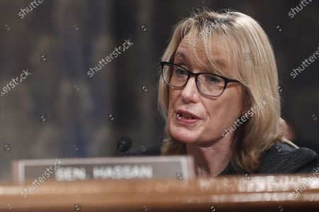 United States Senator Maggie Hassan (Democrat of New Hampshire), speaks during a Senate Homeland Security and Governmental Affairs Committee confirmation hearing for Neera Tanden, director of the Office and Management and Budget (OMB) nominee for U.S. President Joe Biden, in Washington, D.C., U.S.,. Tanden, who pledged to work with both parties after drawing sharp criticism from Republicans for sniping at them on social media, worked on the Affordable Care Act during the Obama years and was an aide to Hillary Clinton from her time as first lady. Photographer: Ting Shen/Bloomberg
