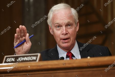 United States Senator Ron Johnson (Republican of Wisconsin), speaks during a Senate Homeland Security and Governmental Affairs Committee confirmation hearing for Neera Tanden, director of the Office and Management and Budget (OMB) nominee for U.S. President Joe Biden, in Washington, D.C., U.S.,. Tanden, who pledged to work with both parties after drawing sharp criticism from Republicans for sniping at them on social media, worked on the Affordable Care Act during the Obama years and was an aide to Hillary Clinton from her time as first lady.