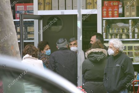Stock Image of Director and actor Vincenzo Salemme on the set of the film 'Con Tutto Il Cuore'