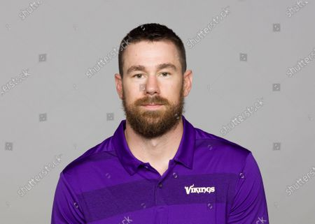 Stock Photo of Showing Klint Kubiak of the Minnesota Vikings NFL football team. The Vikings will keep their playbook in the family with the promotion of Klint Kubiak to offensive coordinator. His father, Gary Kubiak, retired last month