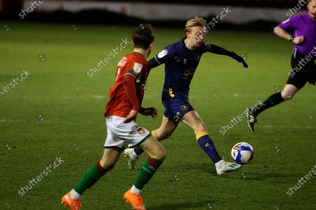Mansfield Town's George Lapslie during the EFL Sky Bet League 2 match between Walsall and Mansfield Town at the Banks's Stadium, Walsall