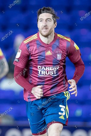 Stock Photo of Ipswich Town defender Stephen Ward (3) during the EFL Sky Bet League 1 match between Peterborough United and Ipswich Town at London Road, Peterborough