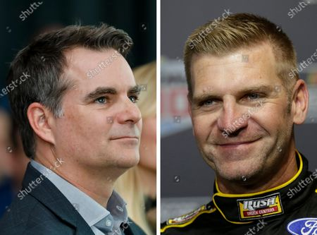 Showing Jeff Gordon. At right is a 2020 file photo showing Clint Bowyer. Nearly nine years after the four-time champion and the funniest guy in the garage were involved in one of the most infamous on-track paybacks in NASCAR history, the former rivals are now good friends and eager to share the Fox broadcast booth in 2021
