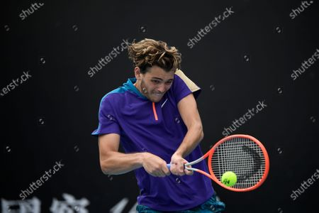 United States' Taylor Fritz Spain's Albert Ramos-Vinolas during their first round match at the Australian Open tennis championship in Melbourne, Australia