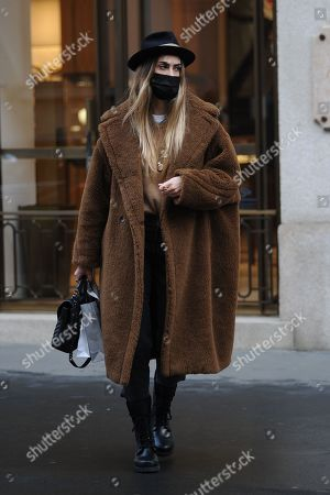 Editorial picture of Melissa Satta out and about, Milan, Italy - 09 Feb 2021