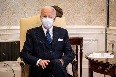 Editorial image of Biden on American Rescue Plan, Washington, District of Columbia, USA - 09 Feb 2021