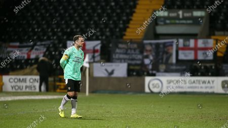 Michael Doyle watches on from his penalty area during the second half.