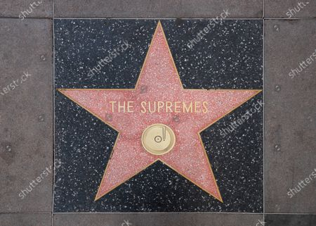 The star of Mary Wilson, founding member of the chart-topping musical group, The Supremes, on the Hollywood Walk of Fame after the announcement of her death