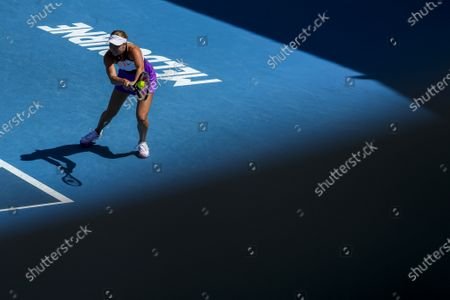 Stock Picture of Anastasia Potapova of Russia in action against Timea Babos of Hungary during their second round match of the Australian Open Grand Slam tennis tournament in Melbourne, Australia, 10 February 2021.