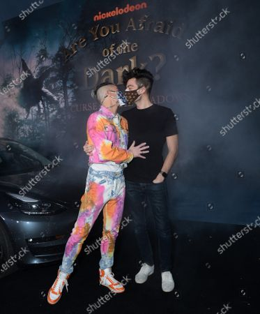 Stock Picture of Frankie Grande and boyfriend Hale Leon